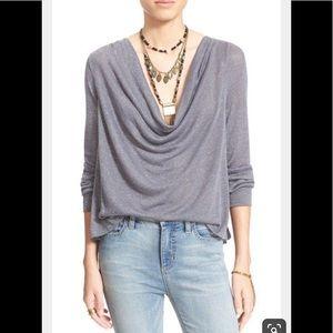 Free people Palmer metallic blouse large
